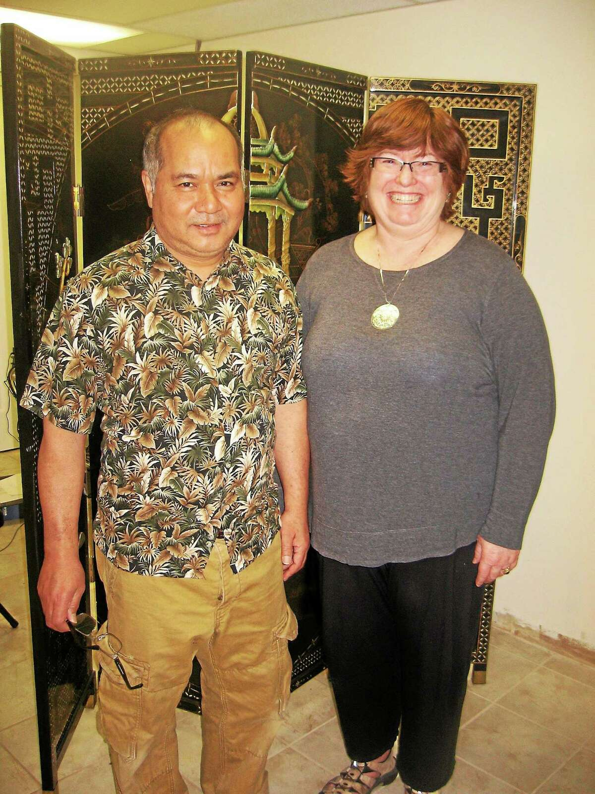 Owners of Edo Sushi Express in Watertown, Thihan Tujn and Cynthia LaBelle.