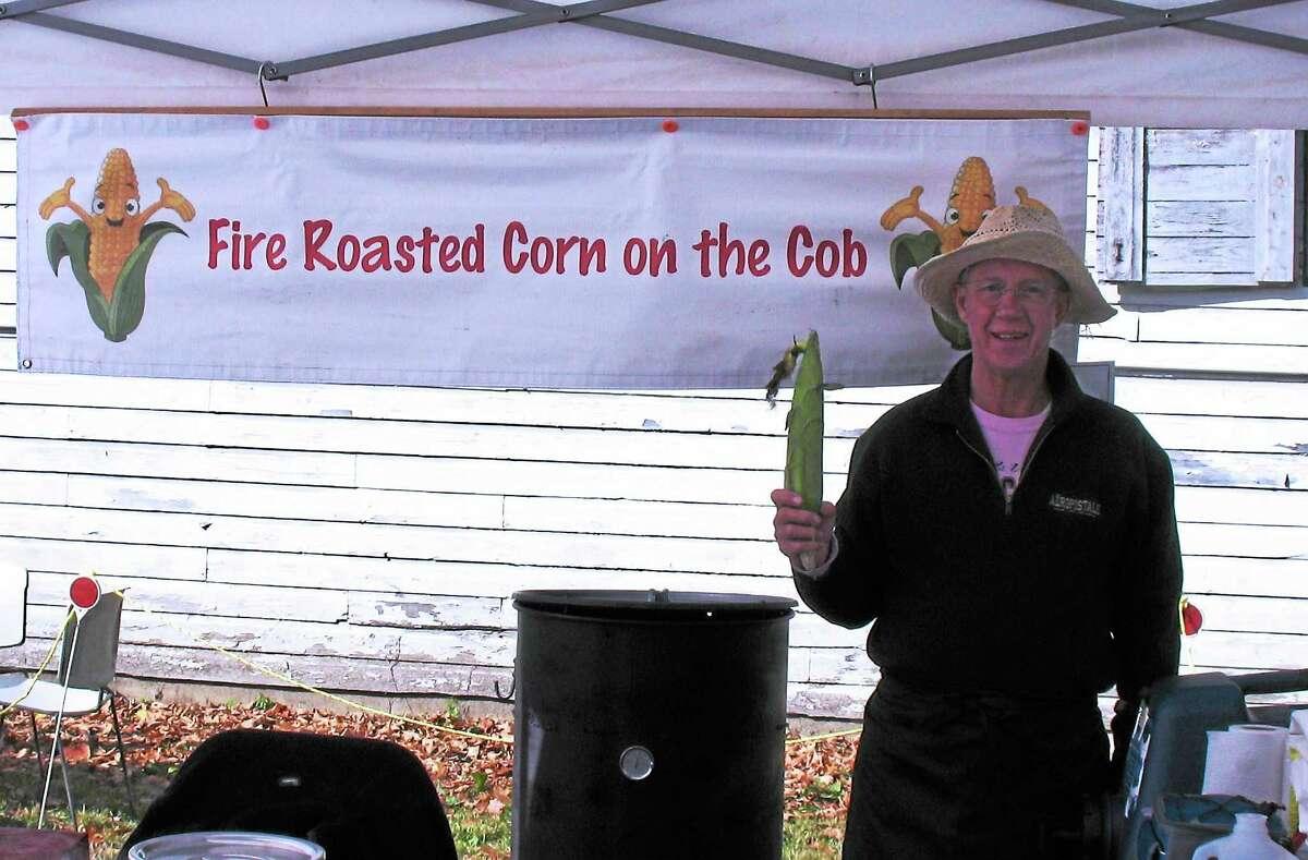 Bill Brackoneski, selling his Fire Roasted Corn on the Cob.
