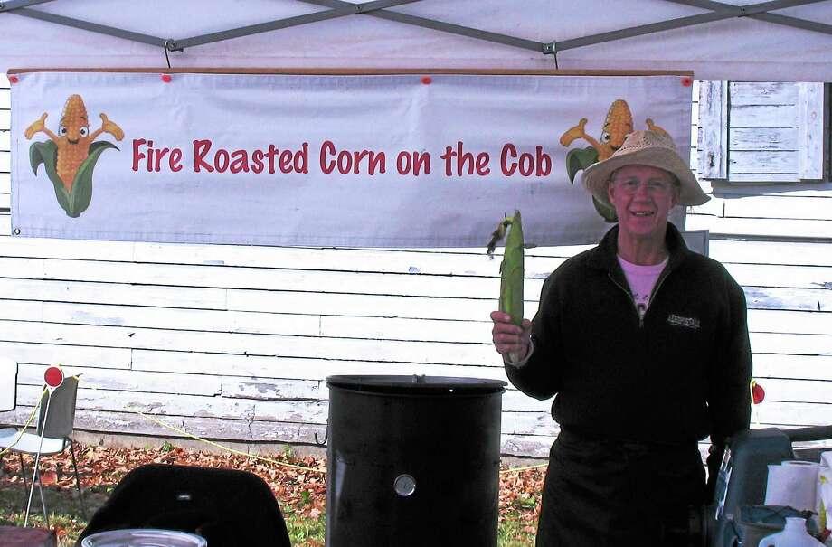 Bill Brackoneski, selling his Fire Roasted Corn on the Cob. Photo: Katelyn Peterson Photo