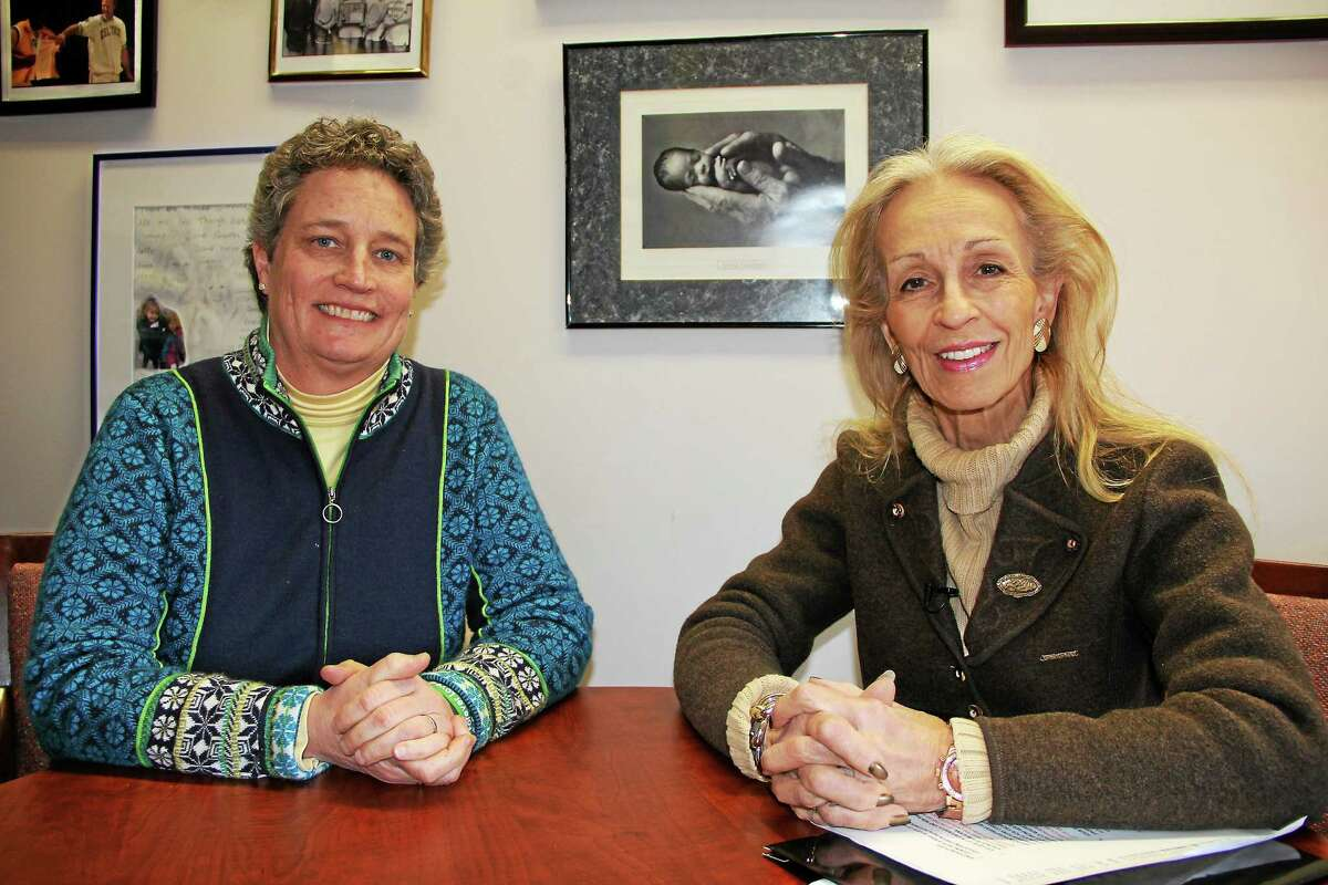 Connecticut State Sen. Beth Bye with CT Valley Views host Susan Regan in this 2014 file photo.