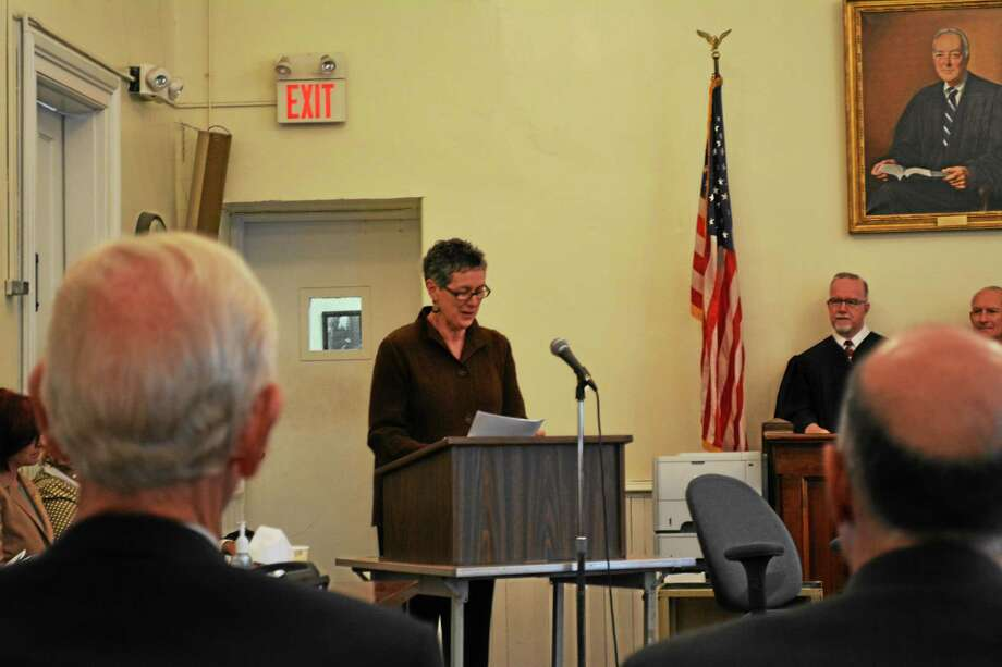 Barbara Spiegel was awarded the Liberty Bell Award on Friday in Litchfield. Photo: Amanda Webster — The Register Citizen