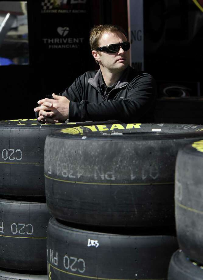 NASCAR driver Travis Kvapil waits in the garage Friday at Atlanta Motor Speedway. Photo: John Amis — The Associated Press  / FRE69715 AP