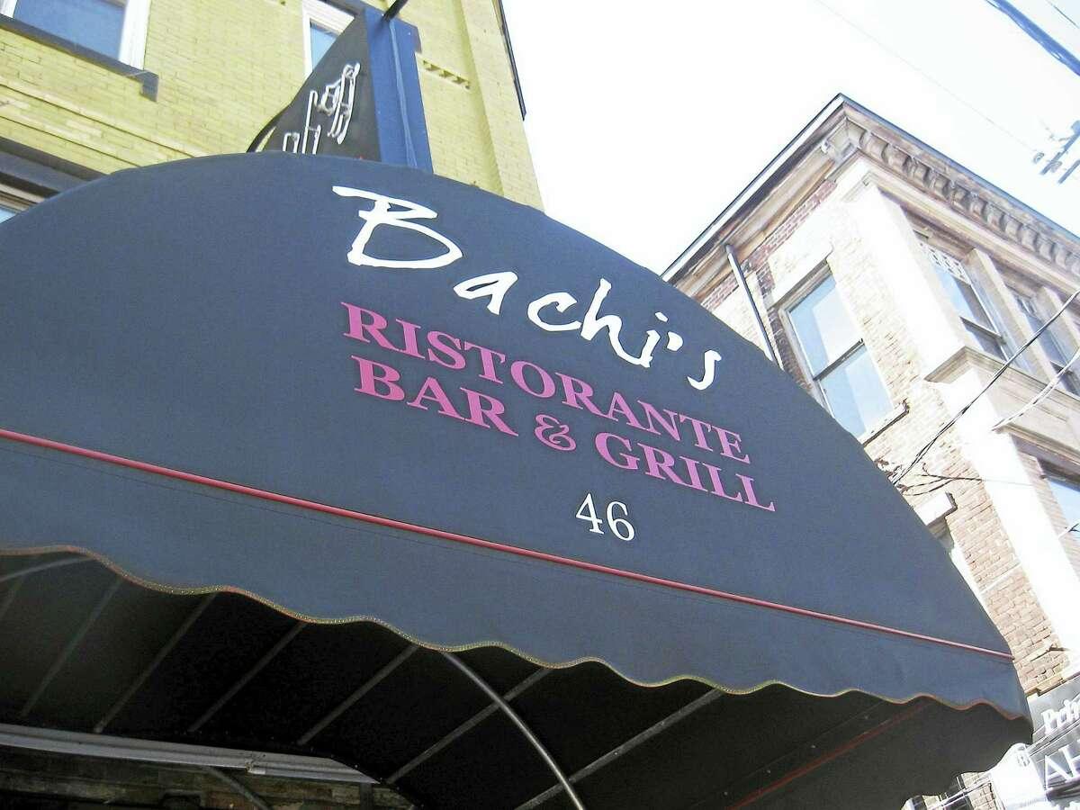 Sign outside Bachi's Ristorante Bar and Grill.