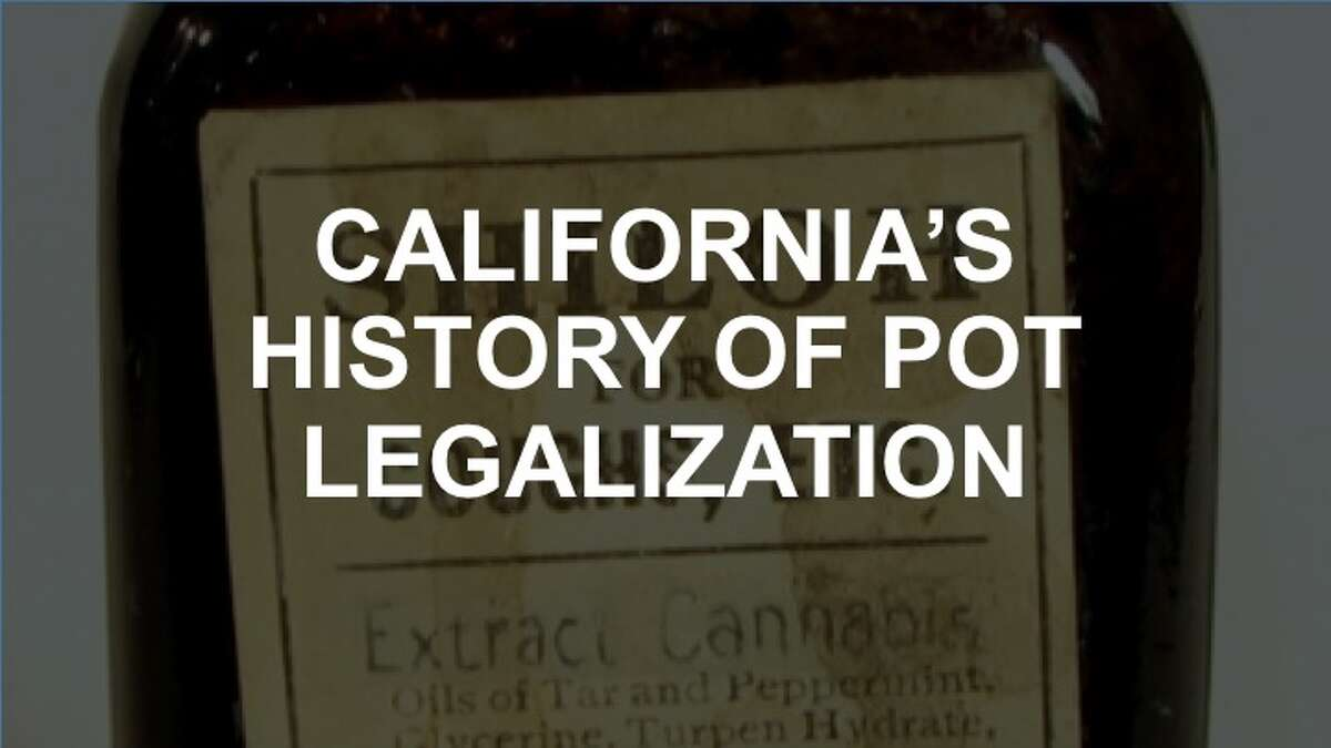 Click through the slideshow to see some of California's history around legalizing cannabis.