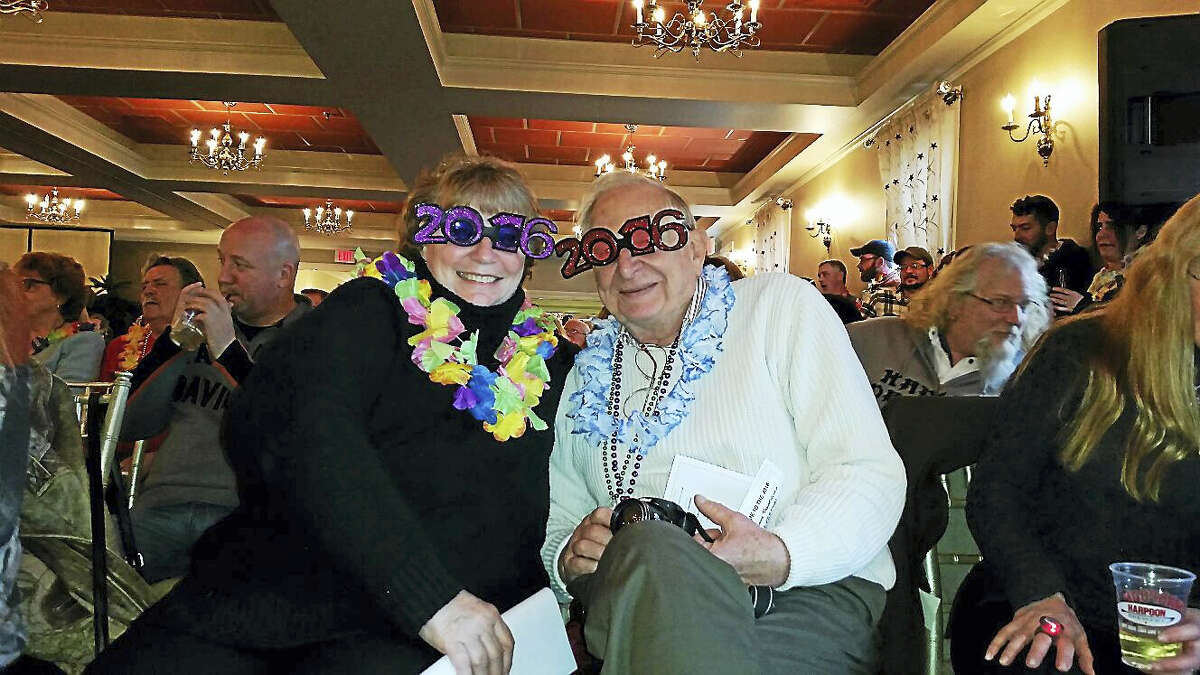 Diane Blick and Frank Pierzea rang in 2016 while watching the 26th annual Possum Queen Festival at the Litchfield Inn.