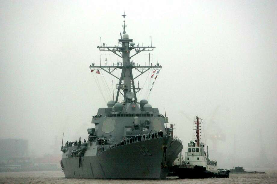 In this April 8, 2008, file photo, guided missile destroyer USS Lassen arrives at the Shanghai International Passenger Quay in Shanghai, China, for a scheduled port visit. The USS Lassen has sailed past one of China's artificial islands in the South China Sea on Tuesday in a challenge to Chinese sovereignty claims that drew an angry protest from Beijing, which said the move damaged US-China relations and regional peace. Photo: AP Photo  / AP