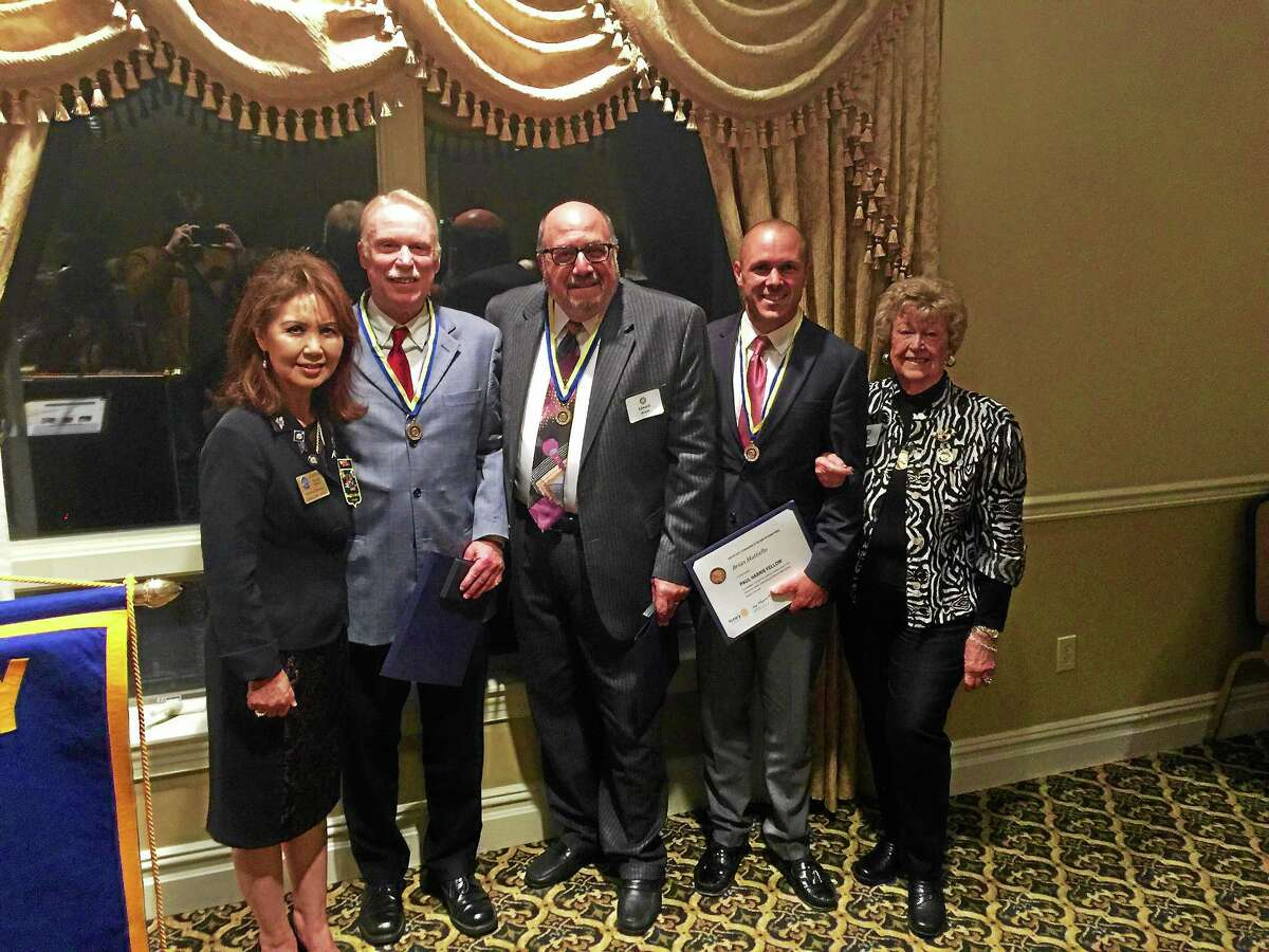 John Dwan, Ed Arum and Brian Mattiello were recognized Tuesday evening as the 2015 Paul Harris Fellows chosen by the Rotary Club of the Torrington-Winsted Area.