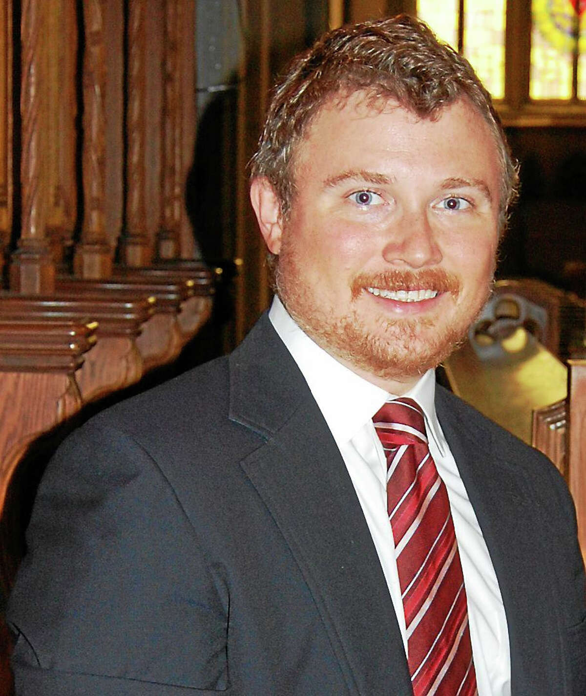 Contributed photoOrganist James Bush performs at St. Michael's church in Litchfield Nov. 1.
