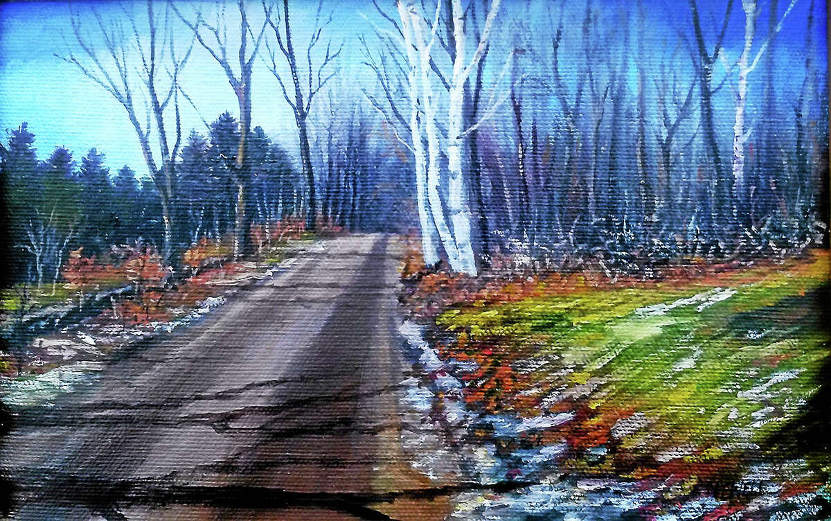 """Contributed photo courtesy of the artist""""Off the Beaten Path,"""" oil painting by Woodbury painter Nadine Newell."""