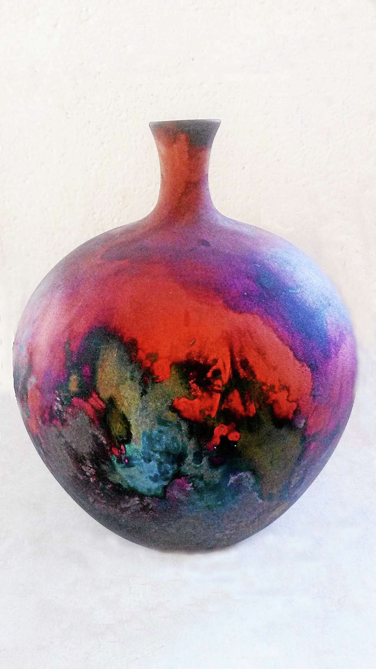Contributed photo courtesy of the artistRaku vase by Collinsville potter Debbie Altschwager.