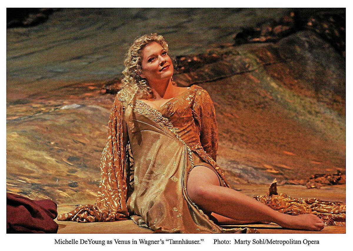 Photo by Marty Sohl/Metropolitan OperaMichelle De Young as Venus in Wagner's Tannhauser, which will be shown in HD from the Met at the Warner Theatre Oct. 31.