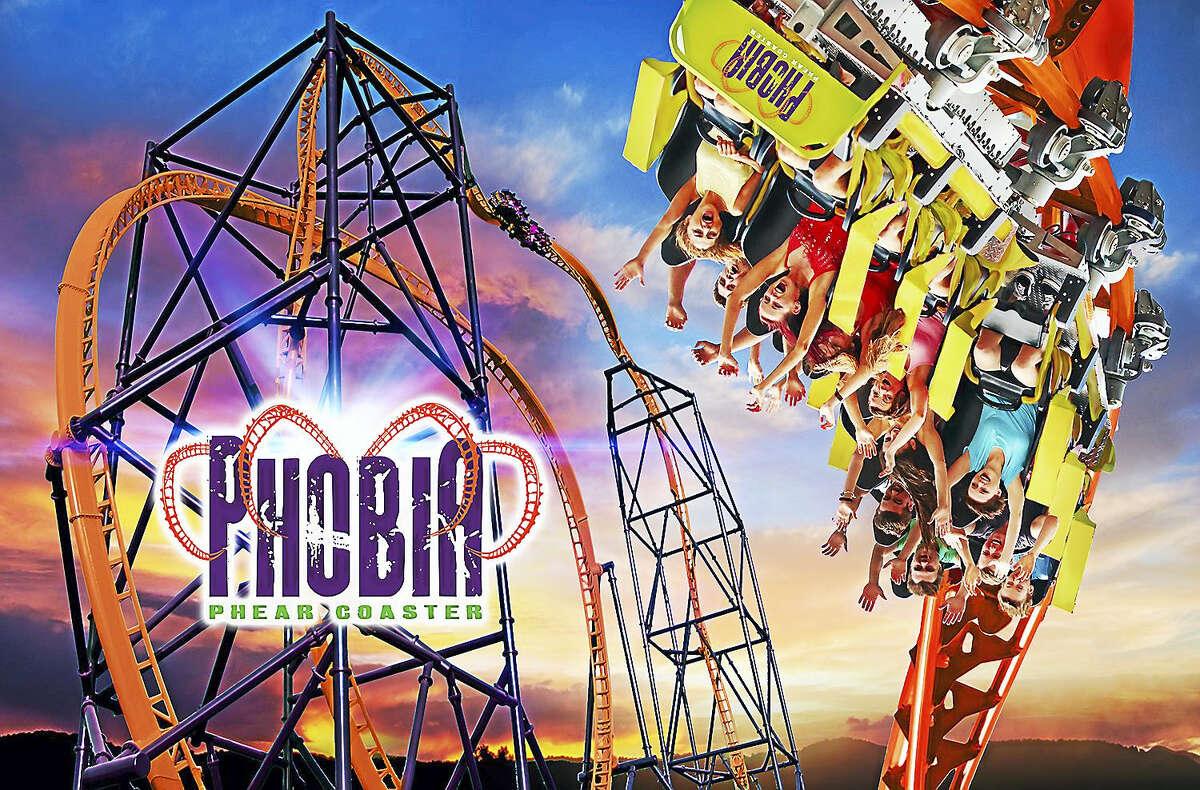 A graphic representation of the new Phobia Phear Coaster.