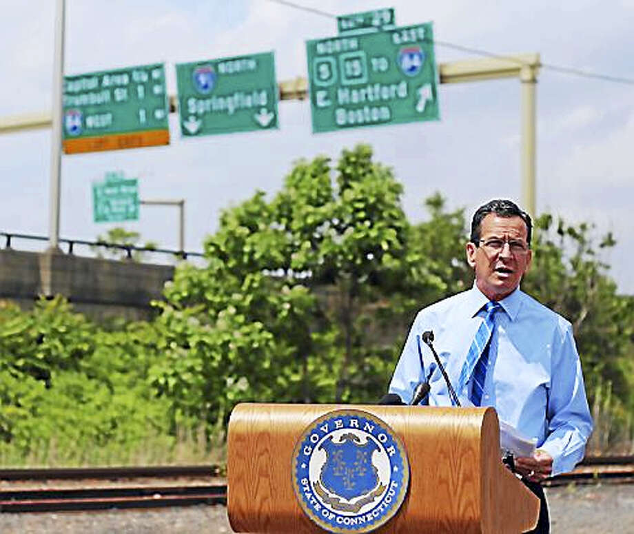Malloy at the Charter Oak Bridge Photo: CTNJ File Photo