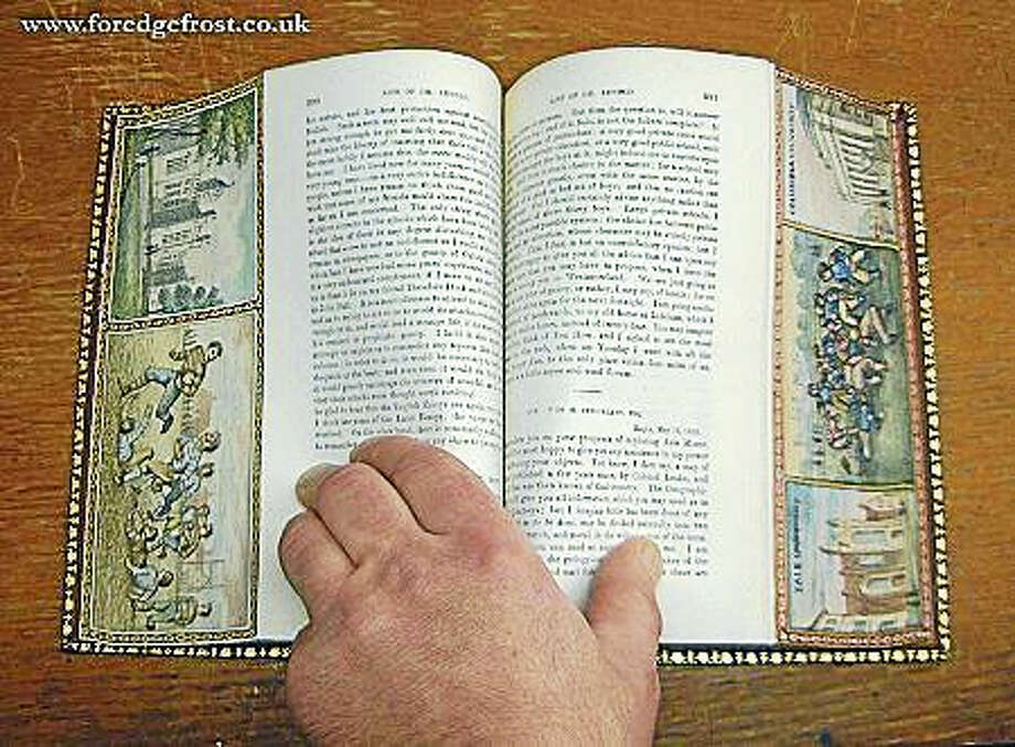 An example of fore-edge painting. Photo: Contributed