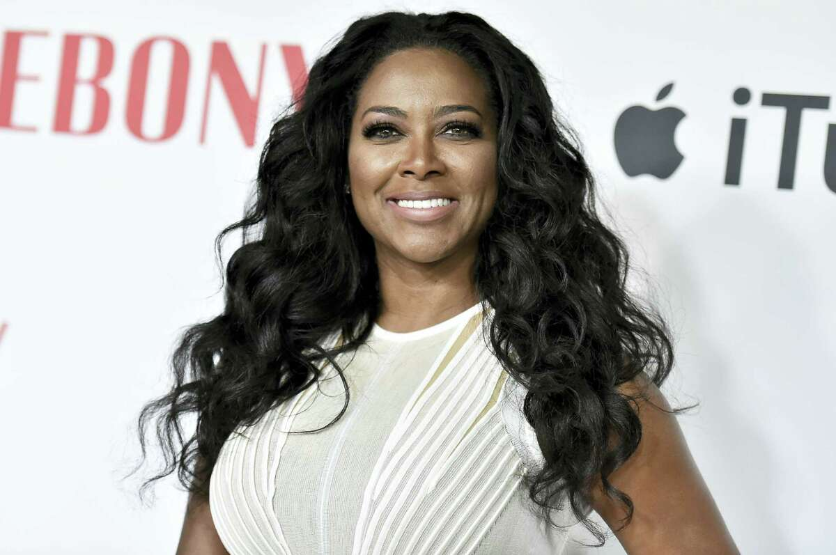 Kenya Moore attends Ebony Magazine and Apple Celebrate Black Hollywood held at Neuehouse Hollywood on Feb. 27, 2016, in Los Angeles.