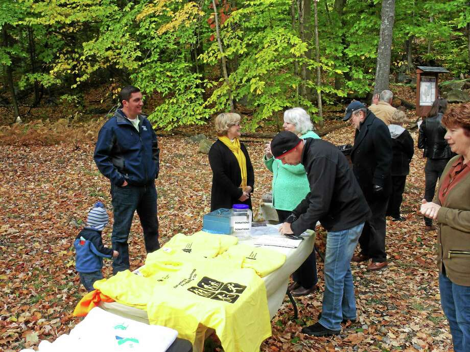 CONTRIBUTED PHOTO The Buttrick Trail was opened over the weekend by members and supporters of the Torrington Trails Network. Photo: Journal Register Co.
