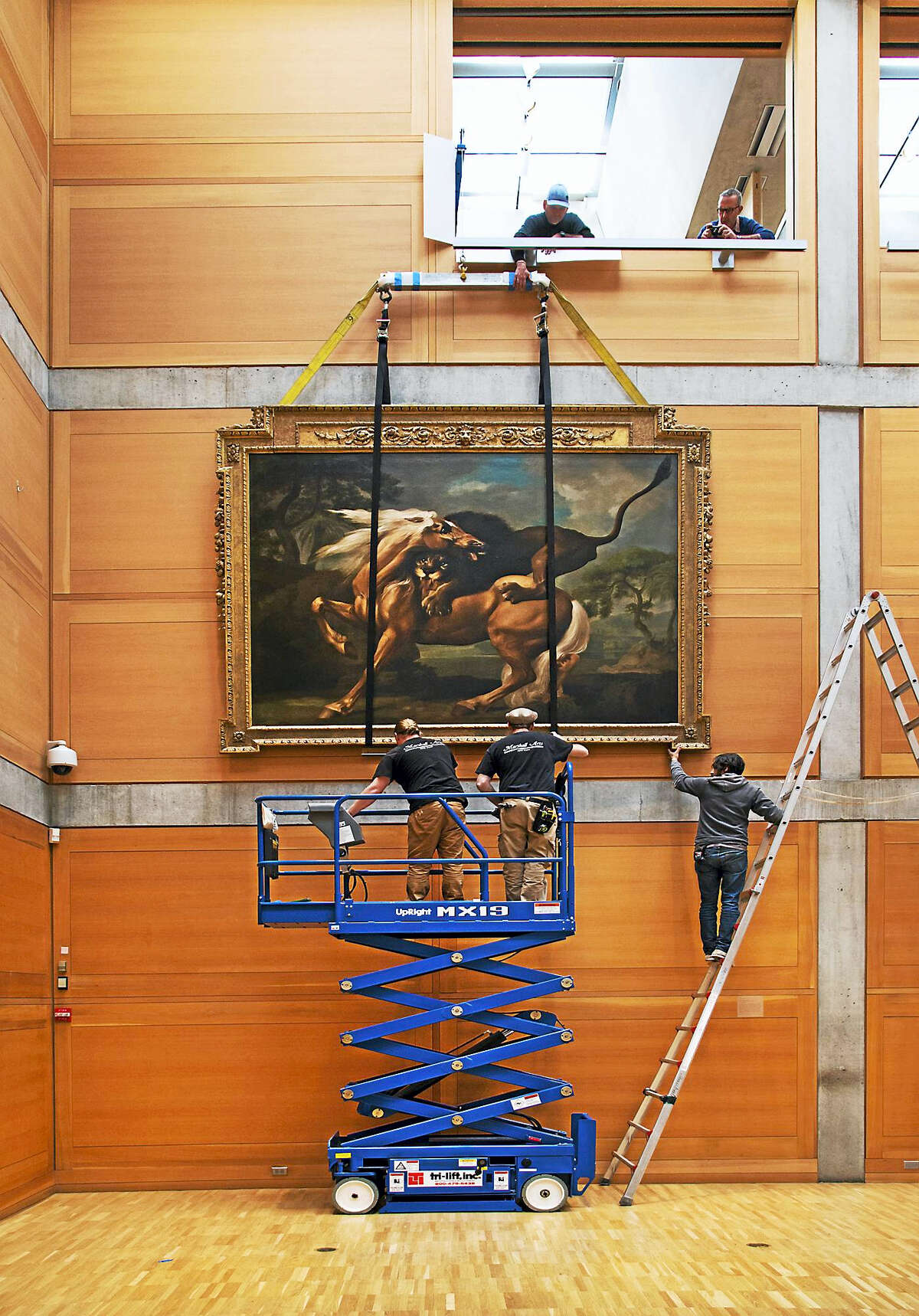 Part of the Yale Center for British Art reinstallation, taken in February.