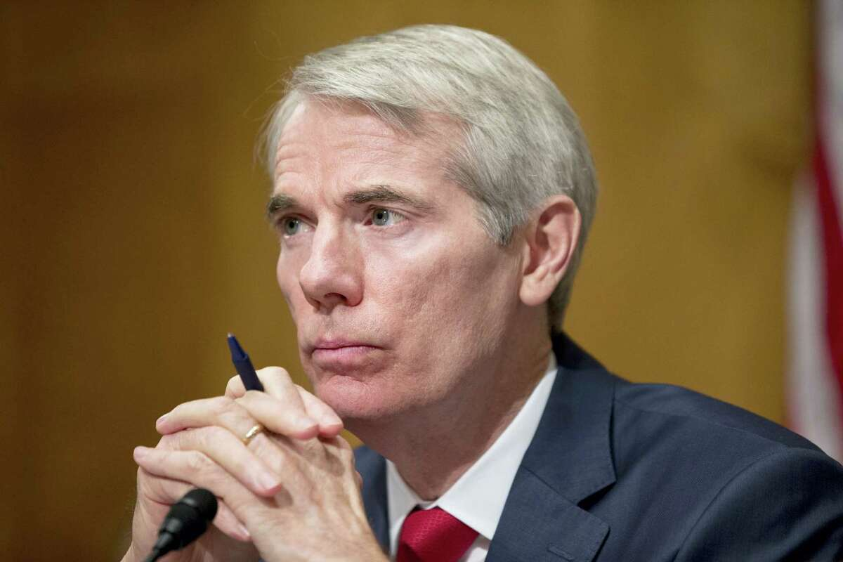In this June 23 photo, Sen. Rob Portman, R-Ohio, listens during a hearing on Capitol Hill in Washington.