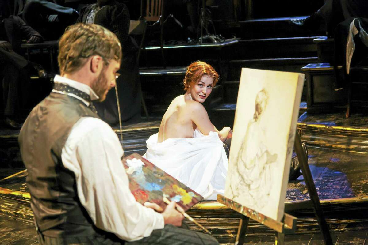 T. Charles Erickson photo Bobby Steggert as Toulouse-Lautrec and Mara Davi as Suzanne Valadon