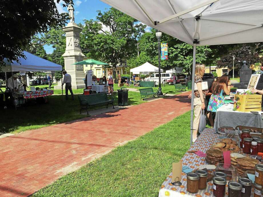 The Winsted Famers Market opened on Friday in East End Park. Photo: Photo By Anita Garnett