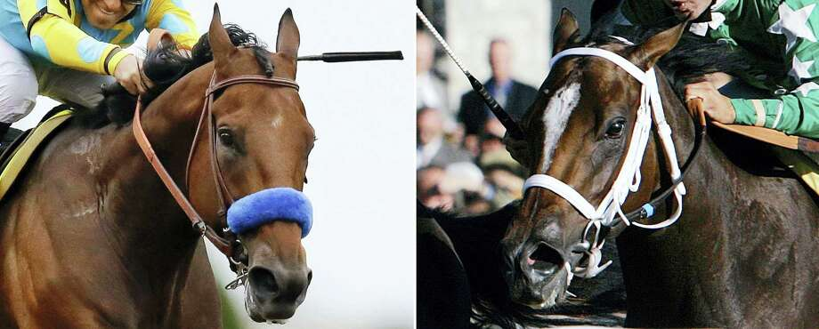 Coolmore's Ashford Stud announced on Friday that Untouched Talent, right, is in foal to American Pharoah, left. Photo: The Associated Press File Photo  / AP