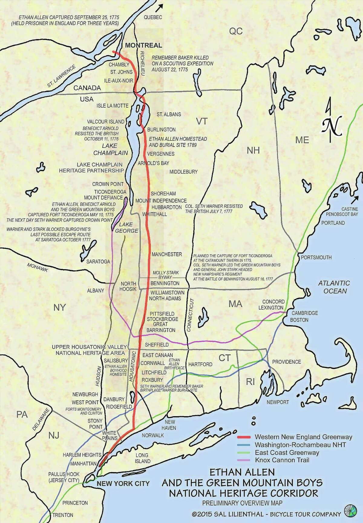 Kent resident Sal Lilienthal is working to establish the Ethan Allen and the Green Mountain Boys National Heritage Corridor.