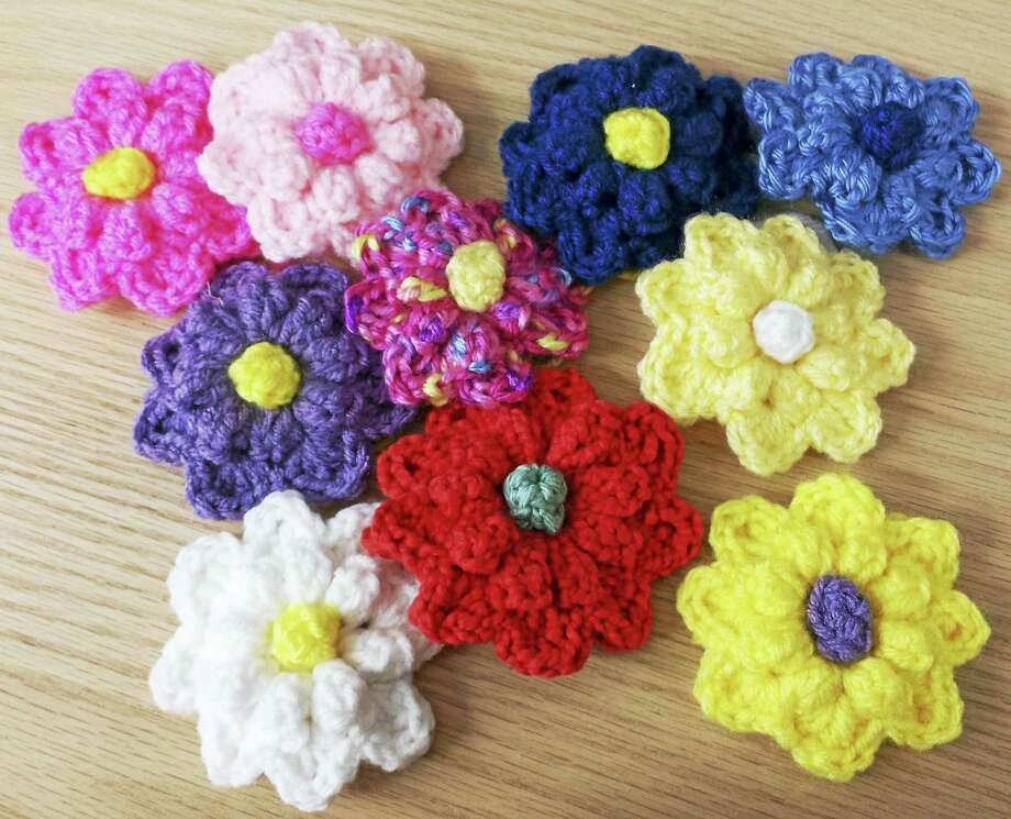 Photo by Ginger BalchLearn to make these sweet flowers at In Sheep's Clothing in Torrington. Photo: Journal Register Co.