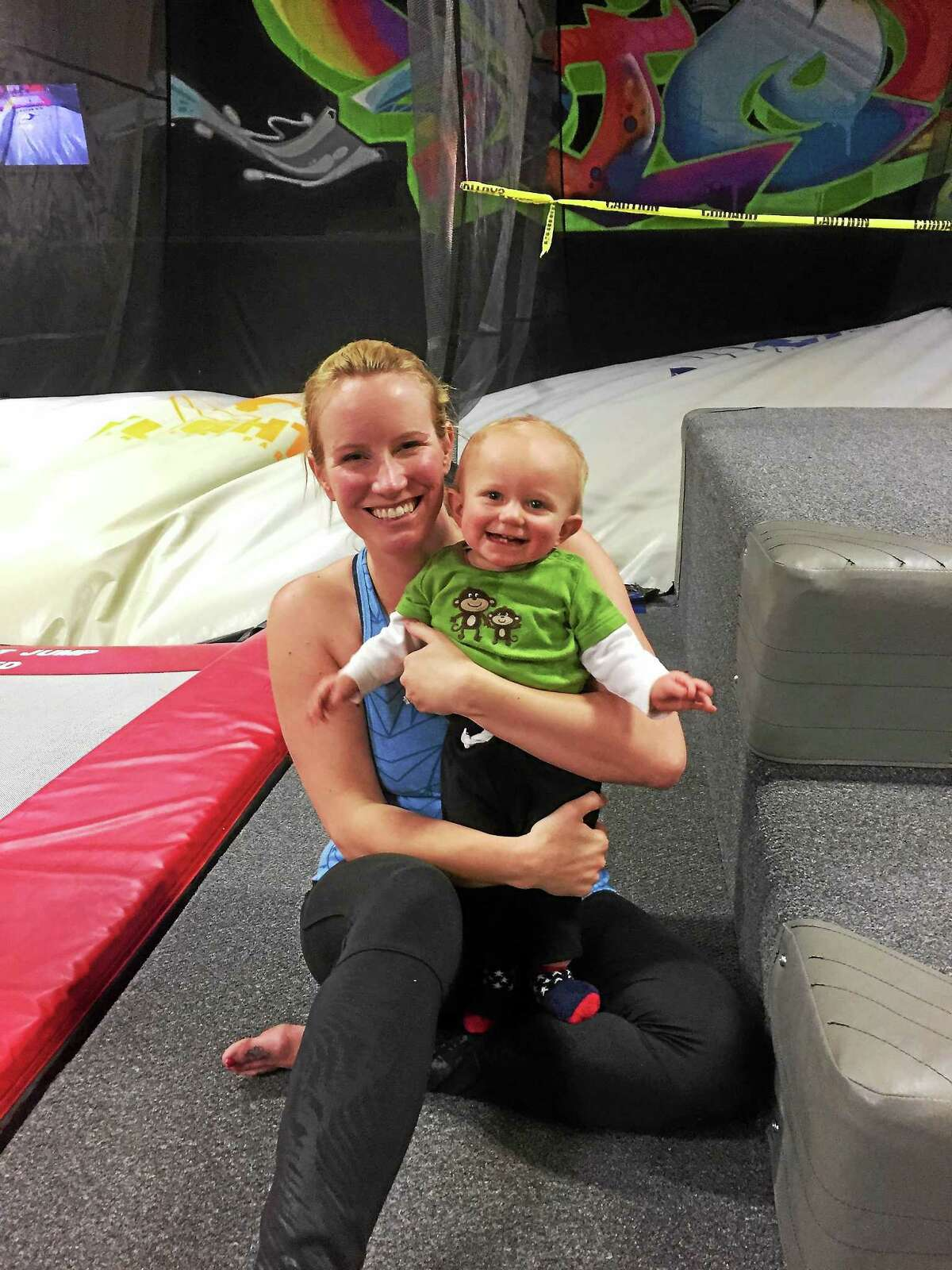 Lindsay Hanson and her son Jack.