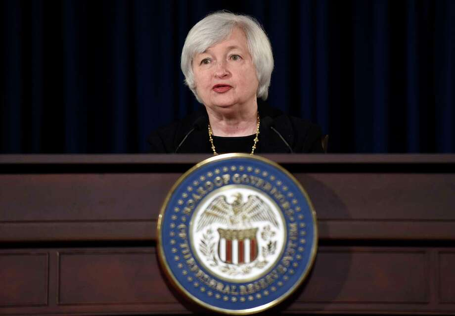 Federal Reserve Chairman Janet Yellen speaks during a news conference at the Federal Reserve in Washington on Sept. 17, 2014. Photo: AP Photo/Susan Walsh  / AP