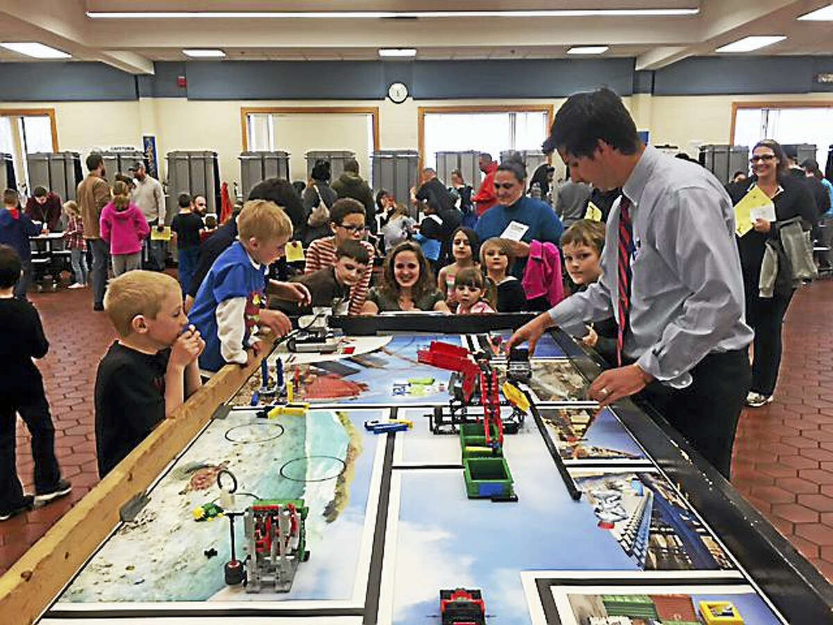 About 200 elementary school families attended the Torrington Public School STEAM Carnival on Monday evening.