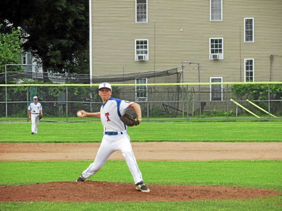 Torrington's Jake Reynolds no-hits Bristol in a P38 American Legion win Photo: Peter Wallace — Register Citizen