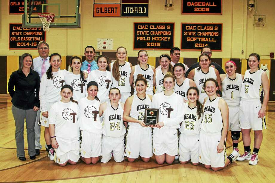 Thomaston won its fifth straight Berkshire League Girls Basketball Tournament Thursday night at Thomaston High School. Photo: Marianne Killackey — The Register Citizen  / 2015