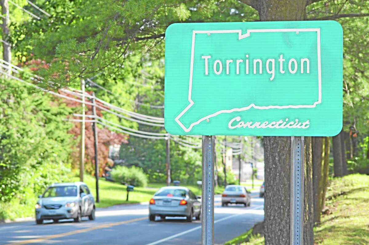 Tom Caprood-Register Citizen ¬ One of the current signs welcoming motorists into Torrington as seen on Winsted Road Friday, July 3.