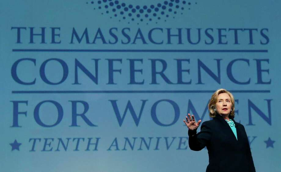Former Secretary of State Hillary Rodham Clinton speaks at the Massachusetts Conference for Women in Boston on Dec. 4, 2014. Photo: AP Photo/Elise Amendola  / AP