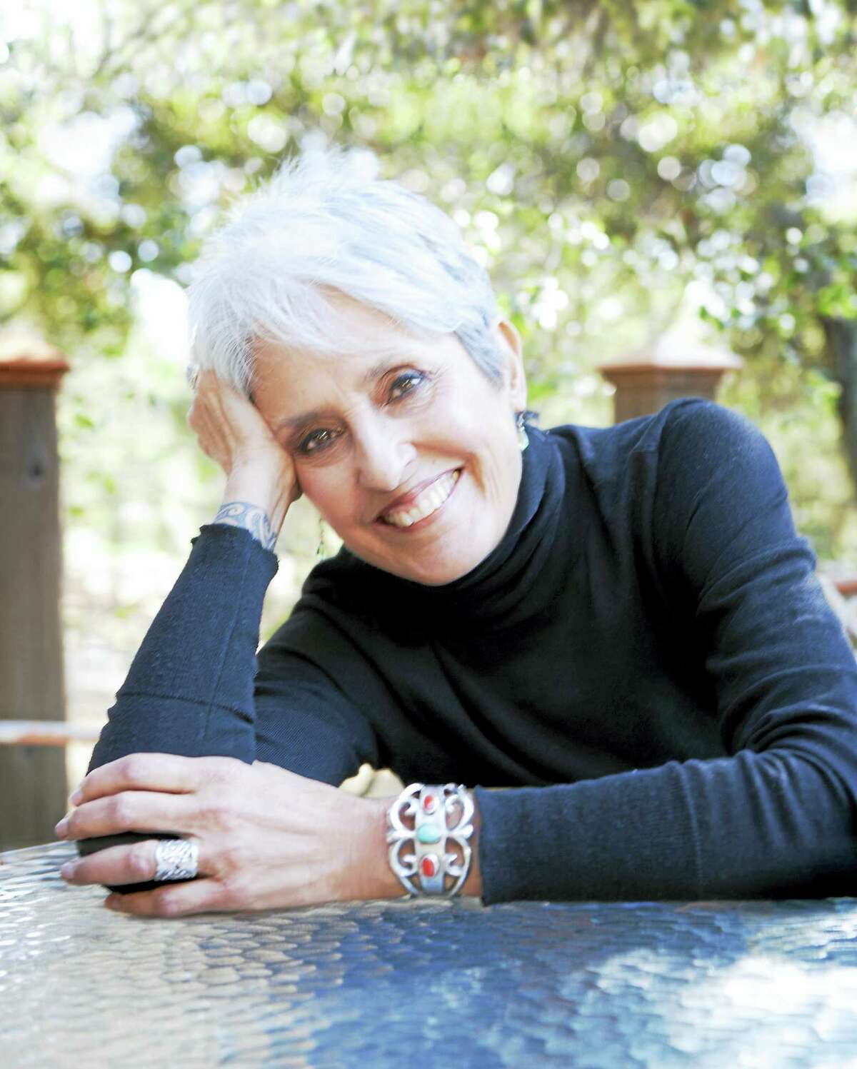 Joan Baez is celebrating her 75th birthday with a tour that will make a stop at New Haven's Shubert Theatre on Thursday.