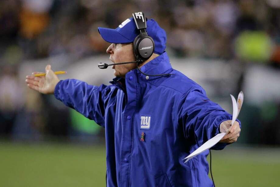 Tom Coughlin hopes his New York Giants bounce back against the Dallas Cowboys on Sunday. Photo: Matt Rourke — The Associated Press  / AP