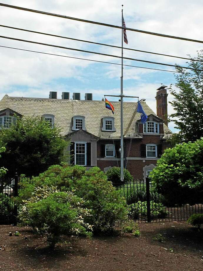 In recognition of the Supreme Court's ruling Friday, Gov. Dannel P. Malloy directed the LGBT pride flag to be flown at the Governorís Residence in Hartford. Photo: Photo Courtesy Of Malloy's Flickr Account