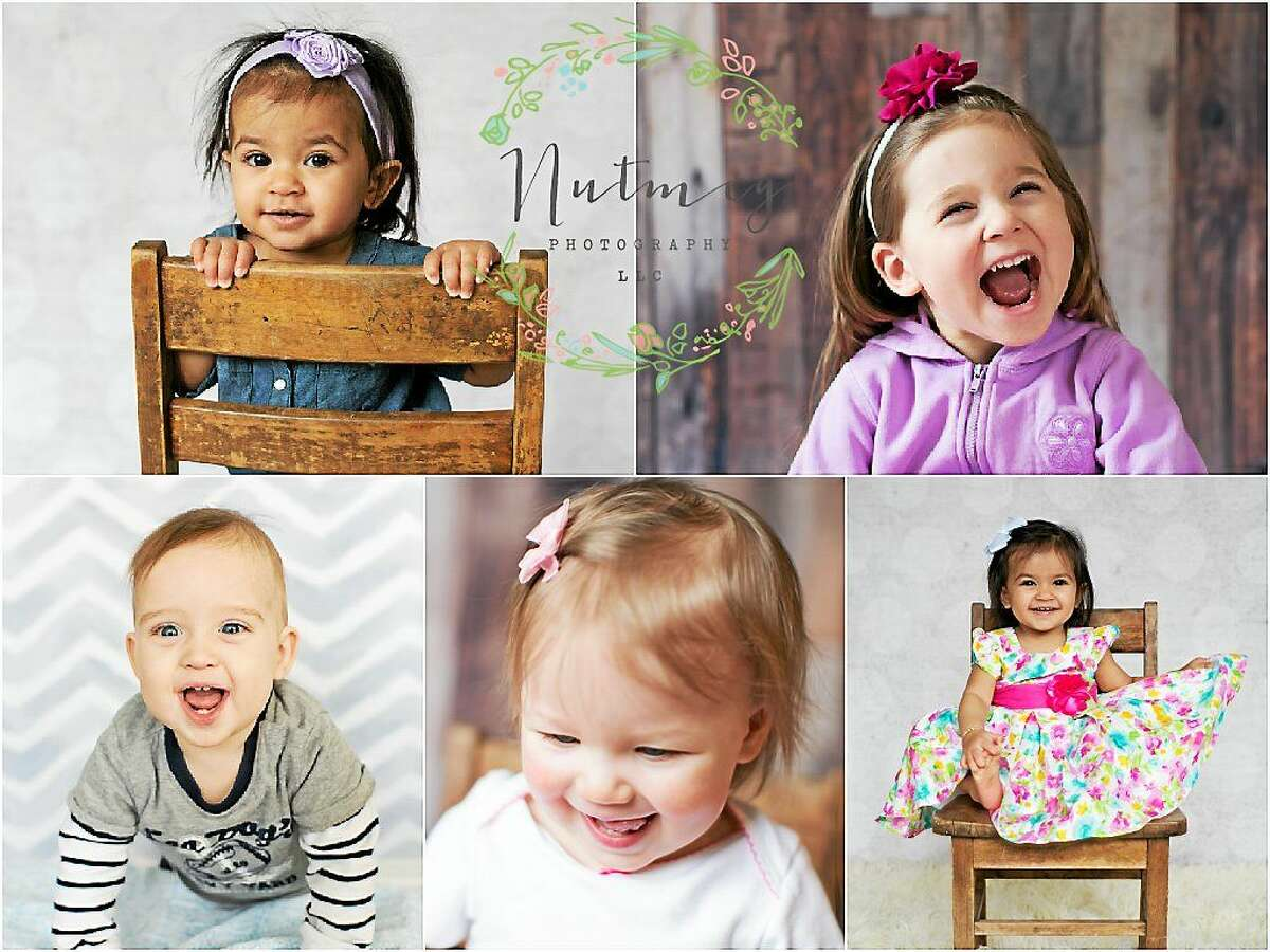 A collage of portraits shows the work of Terry Augustyn and Melissa Beecher, who recently opened Nutmeg Photography LLC in Bantam.