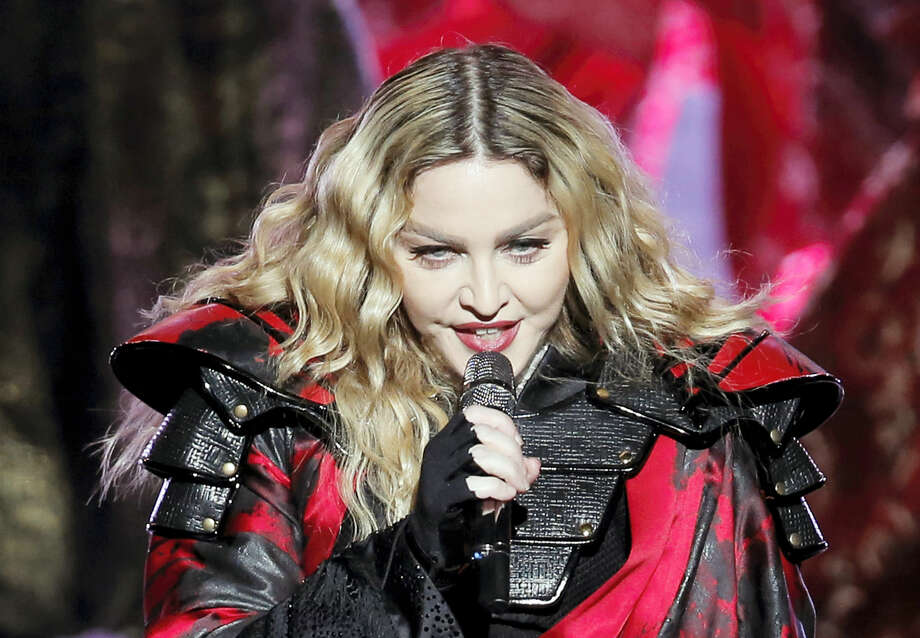 In this Feb. 20, 2016 photo, Madonna performs during the Rebel Heart World Tour in Macau. Photo: AP Photo/Kin Cheung, File  / AP