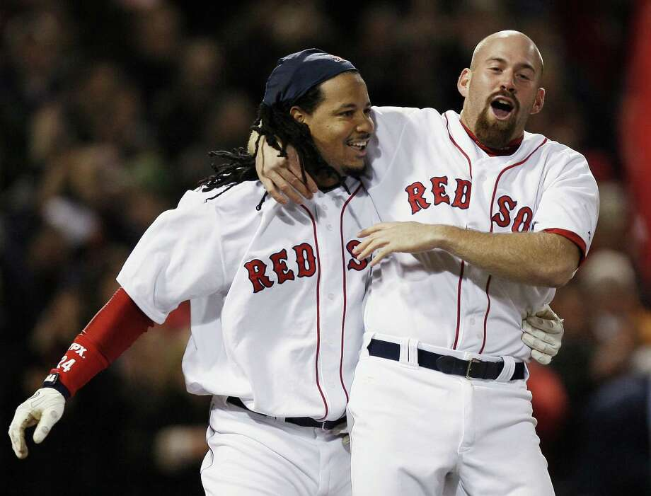 Manny Ramirez and Kevin Youkilis have been hired by Chicago Cubs president of baseball operations Theo Epstein, their old boss on the Boston Red Sox. Photo: Winslow Townson — The Associated Press File Photo  / AP