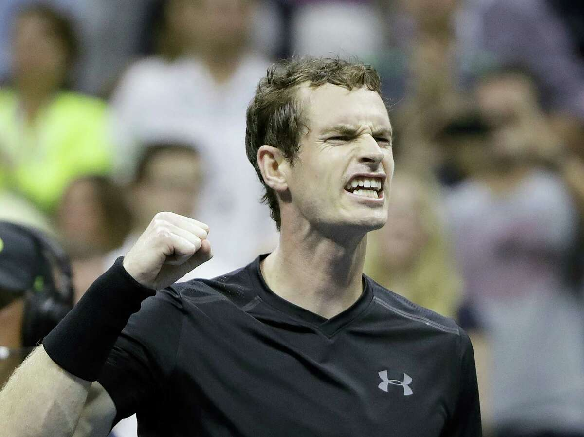 Andy Murray, of Britain, reacts after defeating Grigor Dimitrov, of Bulgaria, 6-1, 6-2, 6-2 during the U.S. Open tennis tournament on Sept. 5, 2016 in New York.
