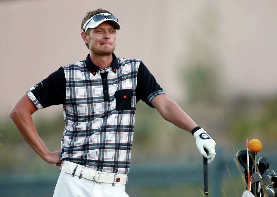 Madison native Brett Stegmaier waits to tee off on the sixth hole during the second round of the Shriners Hospitals for Children Open Friday in Las Vegas. Photo: Isaac Brekken — The Associated Press  / FR159466 AP