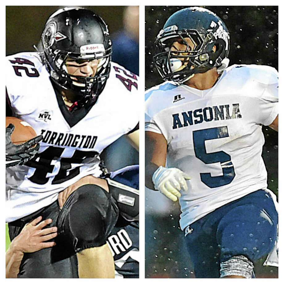 Torrington's Nate Bresson, left, and Ansonia's Tyler Bailey Photo: Photos By Catherine Avalone