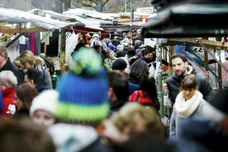 In this March 18, 2016 photo, people crowd the so called Turkish market at the district Neukoelln in Berlin, Germany. The market runs mostly by vendors with a Turkish migration background and is located at the borough of Neukoelln which has one of the highest percentage of immigrants in Berlin. Photo: AP Photo/Markus Schreiber  / Copyright 2016 The Associated Press. All rights reserved. This material may not be published, broadcast, rewritten or redistribu