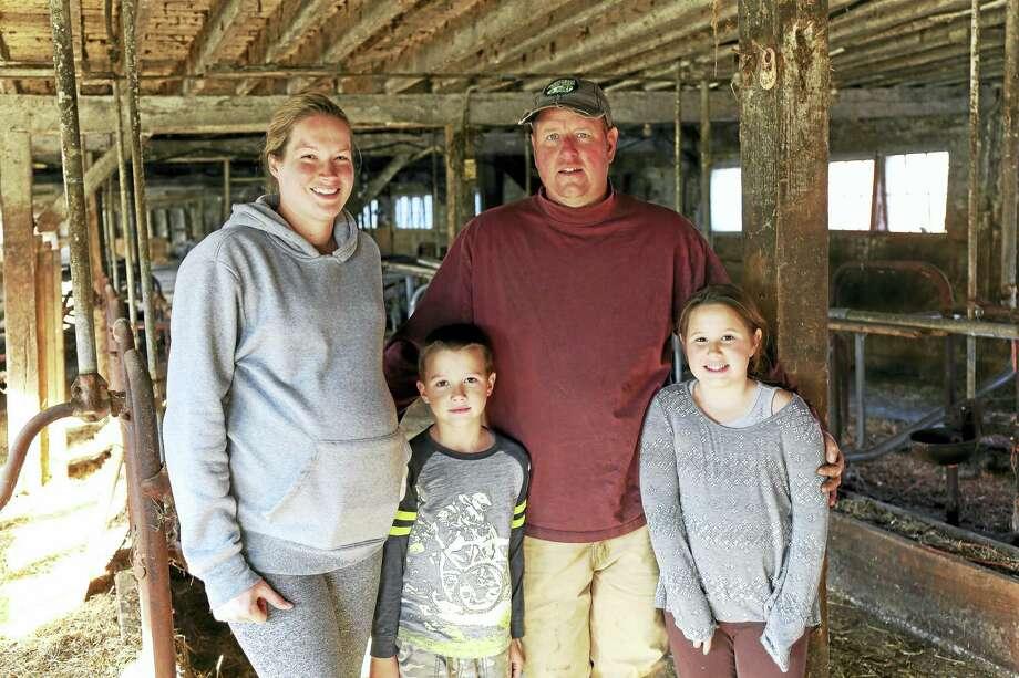 The Maynard family: Stephanie, Mark and children Owen and Mackenzie. Photo: Photo By John Fitts
