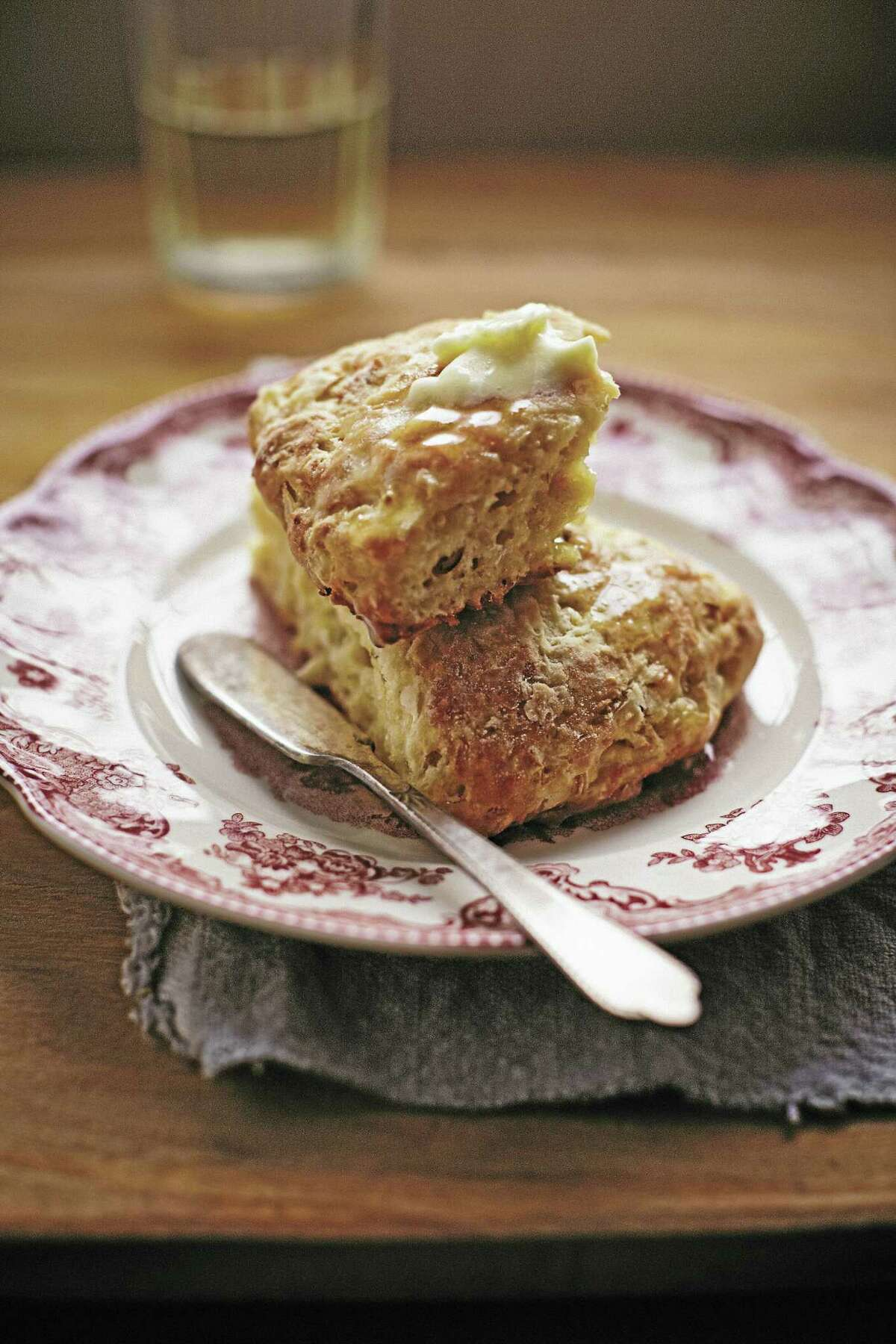 Cheese scones pair nicely with vegetable soup.