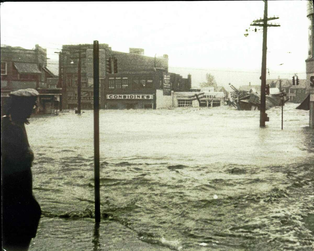 Contributed photoBlack Friday: The Flood of 1955, is on display at UConn Torrington through March 31.