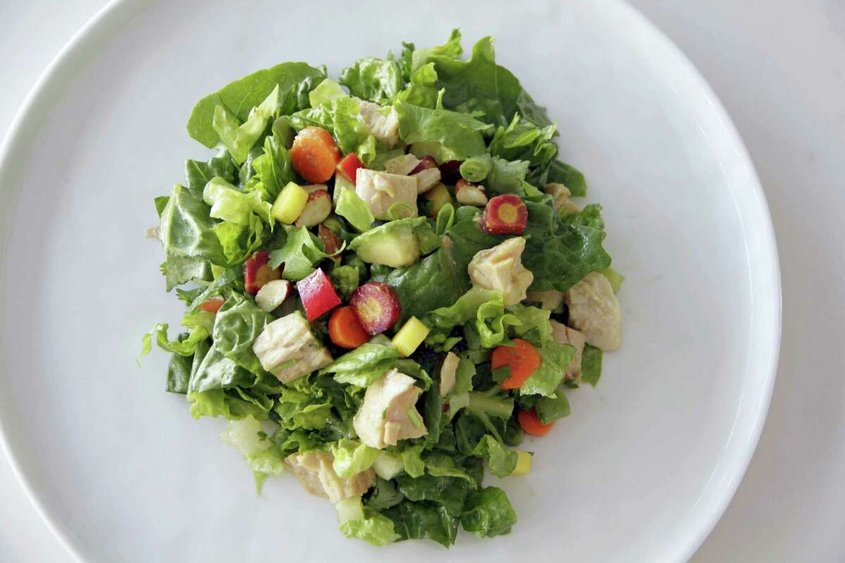 A can of tuna can turn into more than just a sandwich — like chopped albacore salad with Asian dressing.