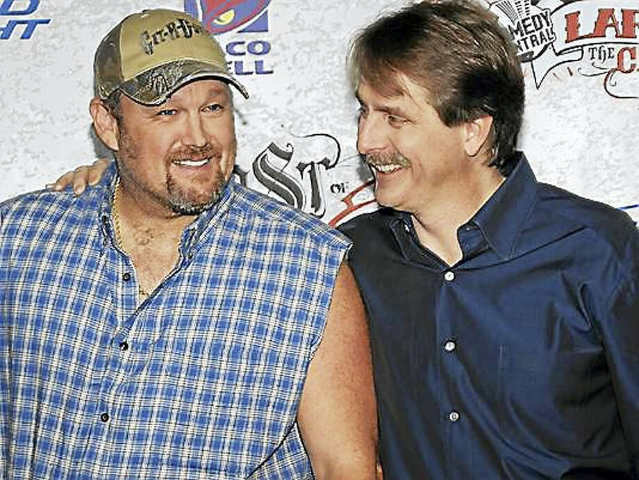 "Photo courtesy of www.flipsidepa.comLarry the Cable Guy and Jeff Foxworthy make a stop on their ""We've Been Thinking"" tour at the Warner Theatre in Torrington on Friday, March 4. Two shows are set for 7 and 9:30 p.m. Photo: Journal Register Co."