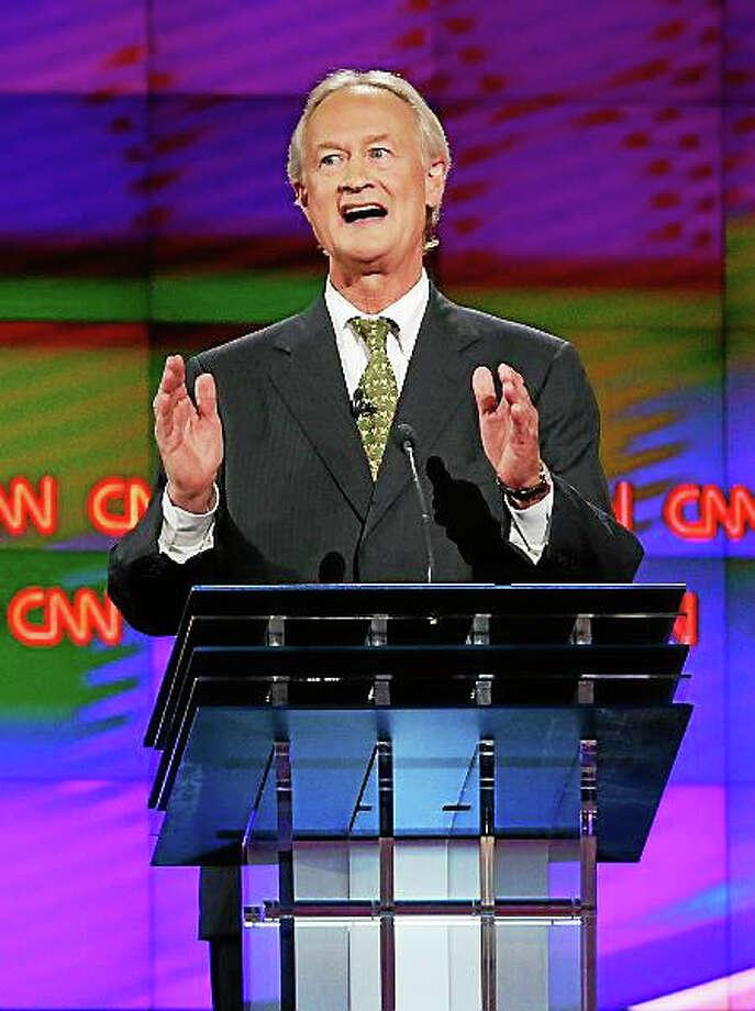 Former Rhode Island Gov. Lincoln Chafee speaks during the CNN Democratic presidential debate Tuesday, Oct. 13, 2015, in Las Vegas. Photo: (AP Photo/John Locher)